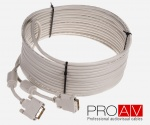 Kabel ProAV Professional DVI-D (18+1) Digital Single Link M/M HQ 10.0 m