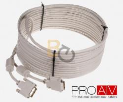 Kabel ProAV Professional DVI-D (24+1) Digital Dual Link M/M HQ 10.0 m