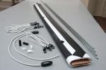 Powierzchnia projekcyjna szybkiego montażu ADEO 245x245 cm (1:1)
