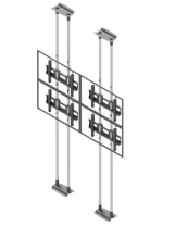 Ściana wideo typu sufit-podłoga, modułowa w układzie 2x2, dla monitorów w zakresie 50-57