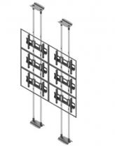 Ściana wideo typu sufit-podłoga, modułowa w układzie 2x3, dla monitorów w zakresie 50-57