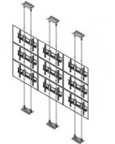 Ściana wideo typu sufit-podłoga, modułowa w układzie 3x3, dla monitorów w zakresie 50-57