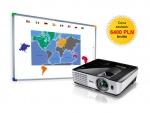 Zestaw interaktywny - tablica interaktywna Interwrite DualBoard 1279 + Benq MX613ST + uchwyt sufitowy