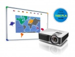 Zestaw interaktywny - tablica interaktywna Interwrite DualBoard 1279 + Benq MX815ST + uchwyt ścienny