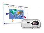 Zestaw interaktywny - tablica interaktywna Interwrite DualBoard 1279 + Epson EB-420 + uchwyt ścienny