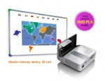 Zestaw interaktywny - tablica interaktywna Interwrite DualBoard 1289 + Benq MW851UST + uchwyt ścienny