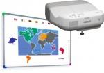 Zestaw interaktywny - tablica interaktywna Interwrite DualBoard 1289 + Epson EB-475W + uchwyt ścienny